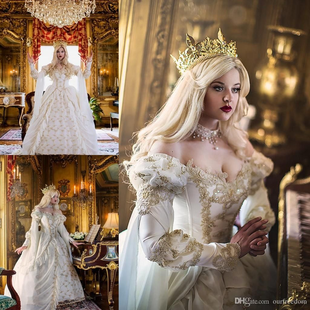 Images Wedding Gowns: Vintage Medieval Celtic Wedding Dress 2016 Custom Made Off