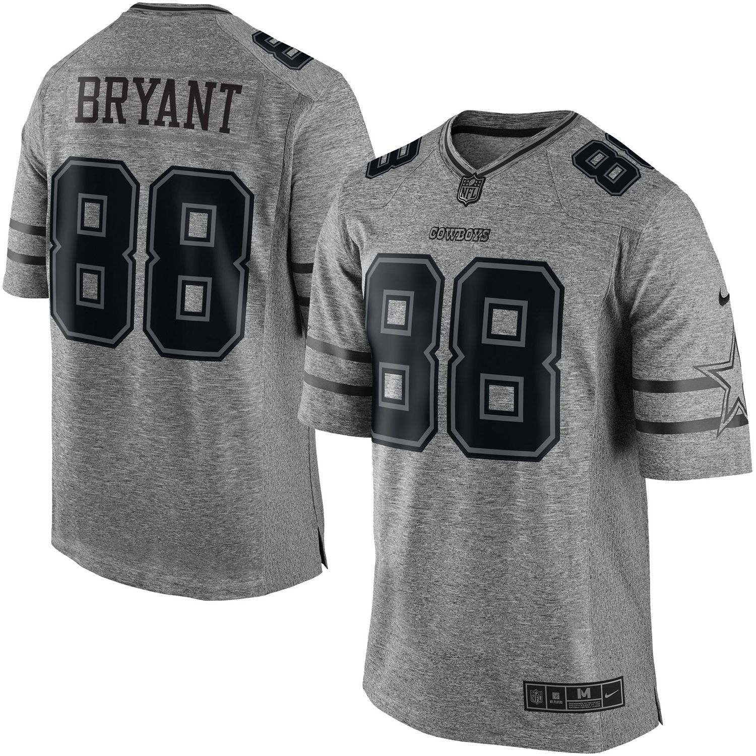 e56d6aa6 Nike Dez Bryant Dallas Cowboys Gray Gridiron Gray Limited Jersey ...