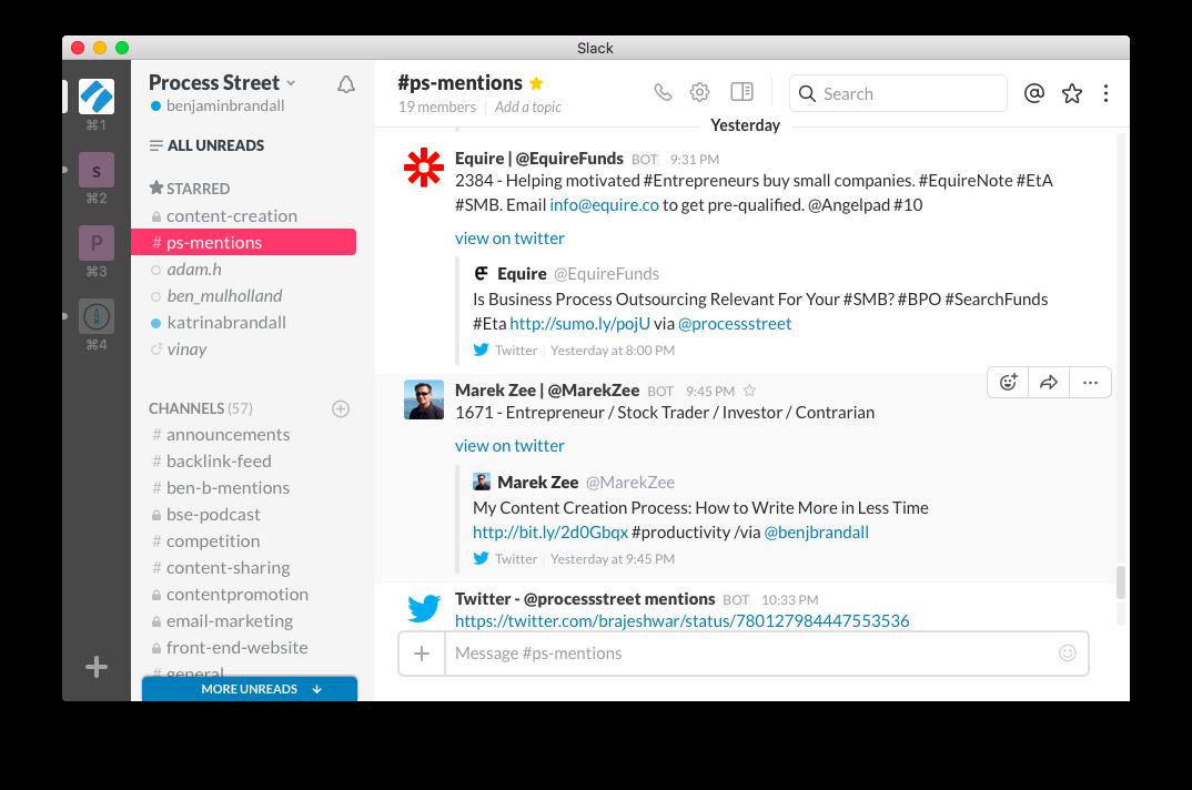 slack-online-collaboration-tools | Process Street | Tools
