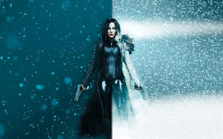 Lataa kuva Alamaailman Veren Wars, Kate Beckinsale, ase, vampyyri, Selene, Alamaailman