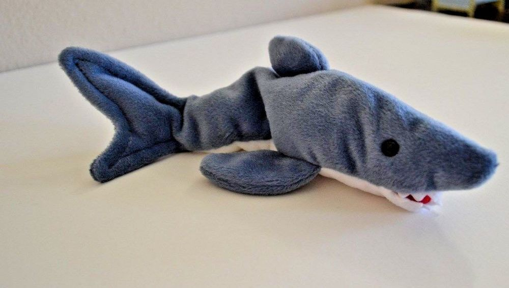 Details about Ty Beanie Babies Baby - Crunch- Plush Beanbag Shark ... 411f314bf6c3