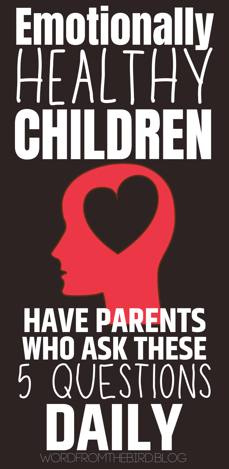 There are ways to help your child navigate their emotions, as well as bond with you and feel free to share their hearts. Here are 5 questions to ask that will not only foster healthy communication betwee parent and adult, but also create a safe place for your child to share their heart. In order for us to know how to be there for our children, we need for them to be open about their needs. These questions will help them do that. #parenting #hacks #advice #mentalhealth #children #kid #parenting