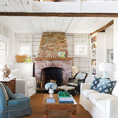 Cape Cod Cottage Revival With Images Coastal Living Rooms