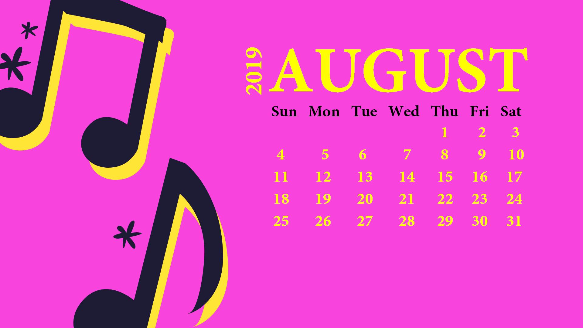 Cute August 2019 Calendar Wallpaper For Desk Calendar Wallpaper August Calendar Desktop Calendar