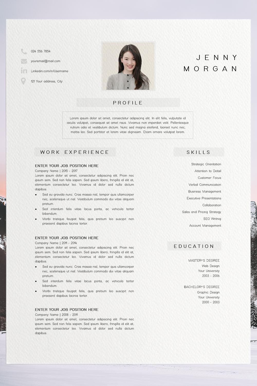 Resume Template Pdf Cv Resume Sample Jenny Morgan Modele De Cv Design Modele Cv Cv Simple