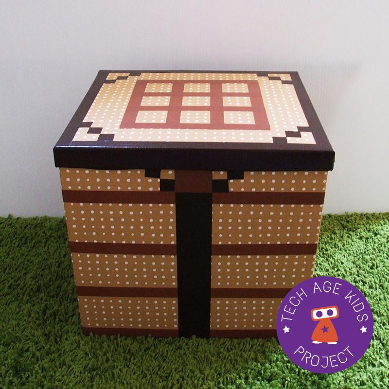 Making Real World Minecraft From Ikea Storage Boxes Ikea Storage Boxes Ikea Storage Craft Table Diy