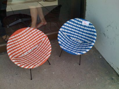 Woven Plastic Garden Chairs Ultimate Beach Chair Backpack 1950s 60s Outdoor Space Pinterest Norfolk Terrace Spaces