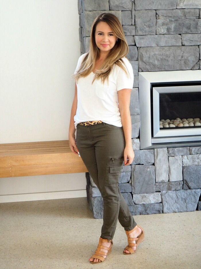 What Sonia Wore: khaki green utility pants | #fashion #style ...