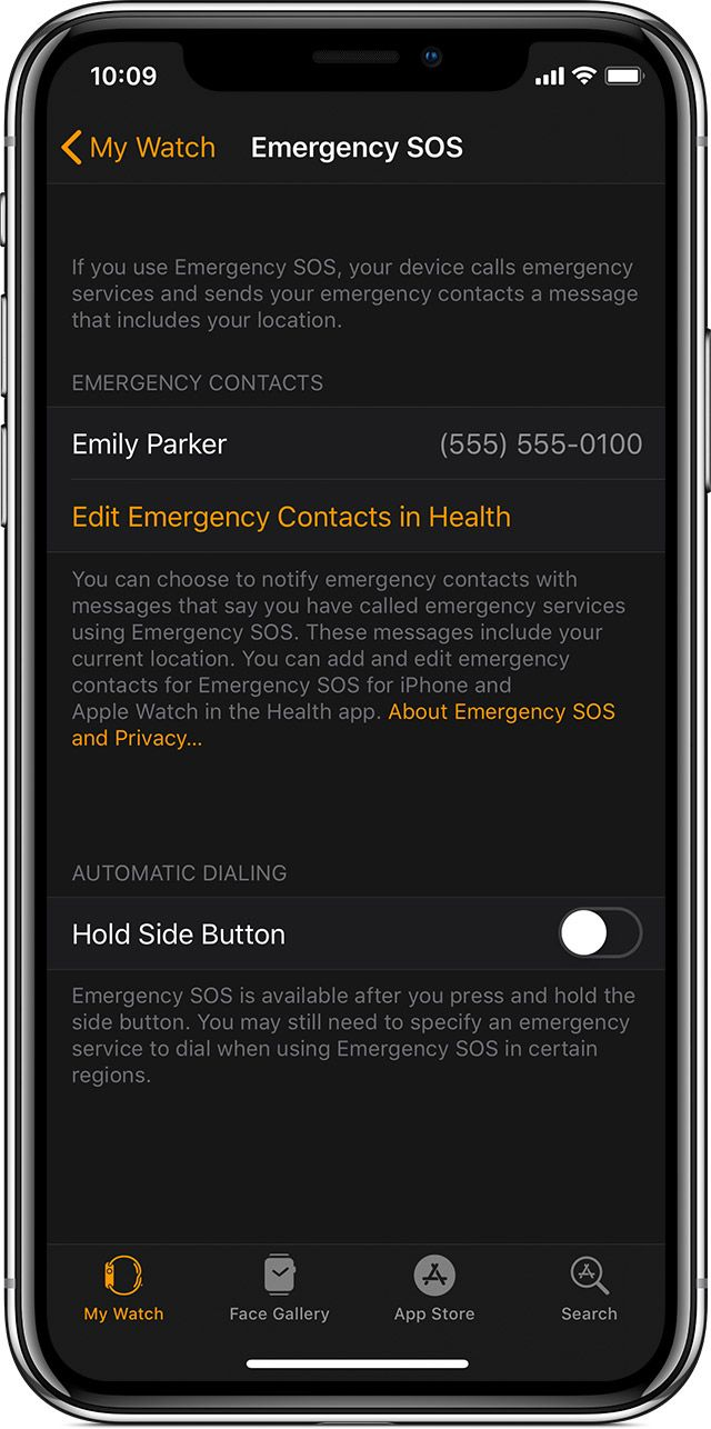 Use Emergency SOS on your Apple Watch Emergency, Sos