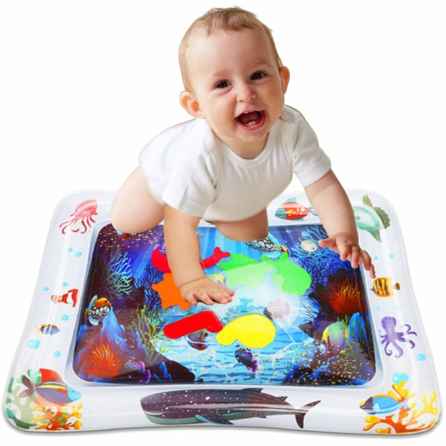 10 Best Inflatable Tummy Time Water Play Mats For Babies Best Baby Toys Baby Tummy Time Tummy Time Toys