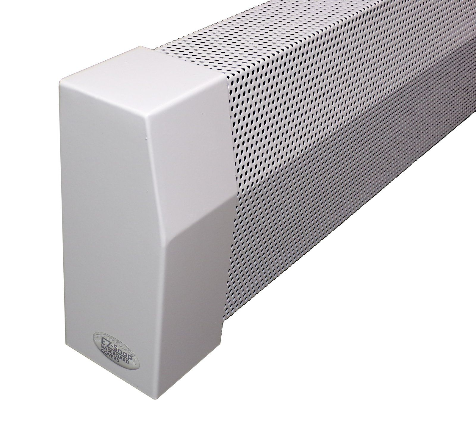 Ez Snap Covers Standard Height 7 1 2 White Baseboard Heater Cover Kit With 2 Closed End Caps Baseboard Heater Covers Heater Cover White Baseboards