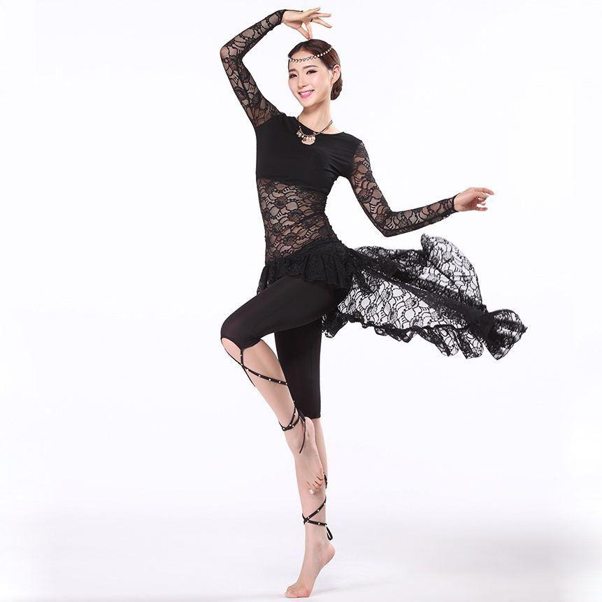 New Training Belly Dance Clothes Women Ballroom Dance Dress Long
