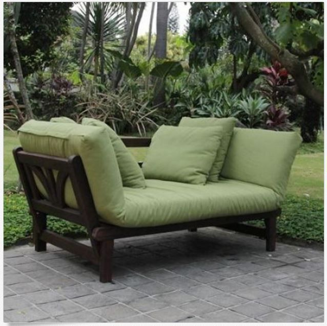Convertible Sofa Bed Sleeper Outdoor Patio Furniture Daybed Cushions ...
