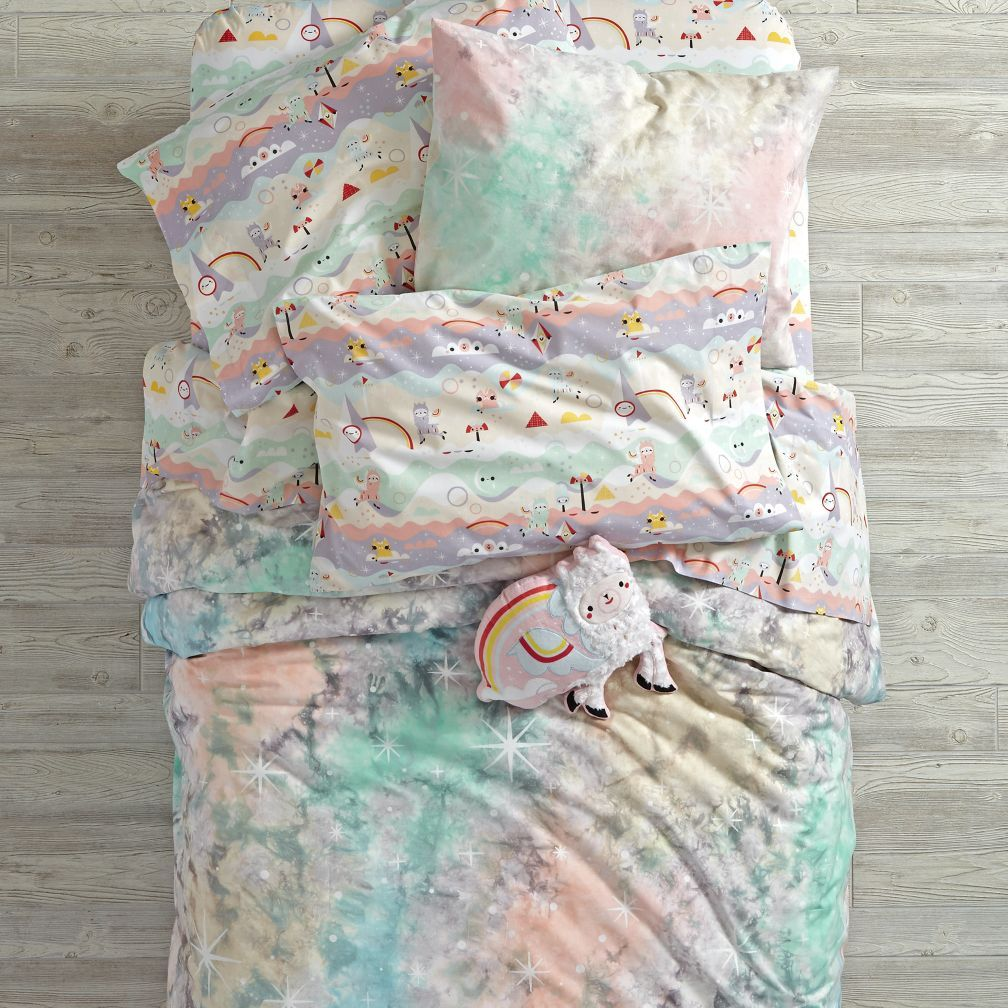 Dreamscape bedding and duvet cover the land of nod