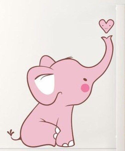 Elefante Rosa Cuarto Bebe Dibujo Elefante Infantil Elefante Infantil Plantilla De Elefante