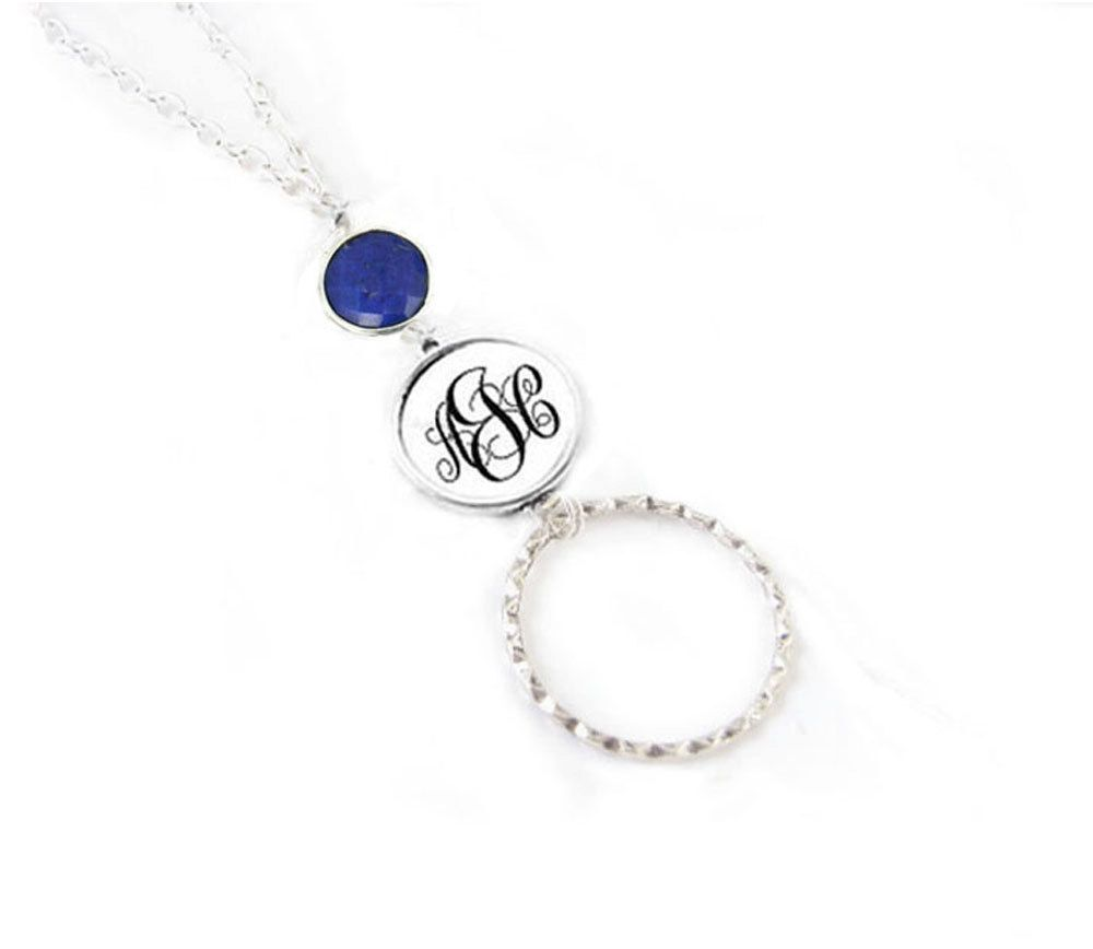 b85406236e36 New to abellagift on Etsy  Silver Lapis Personalized Monogram Eyeglass  Lanyard Customize Eyeglass Chain holder reading glasses chain Glasses  Lanyard (38.00 ...