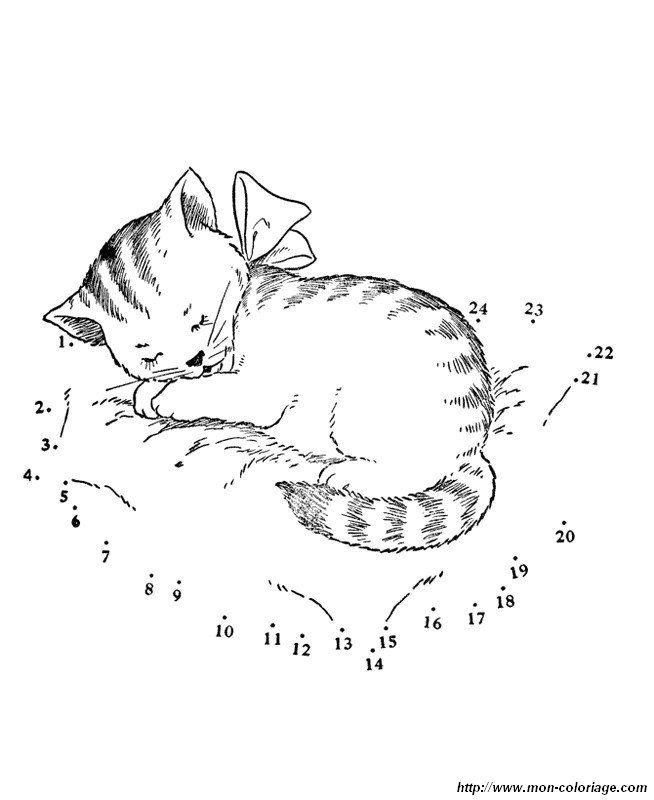 Ausmalbild Katze Schlaft Tief óvoda Arbeitsblätter Katzen