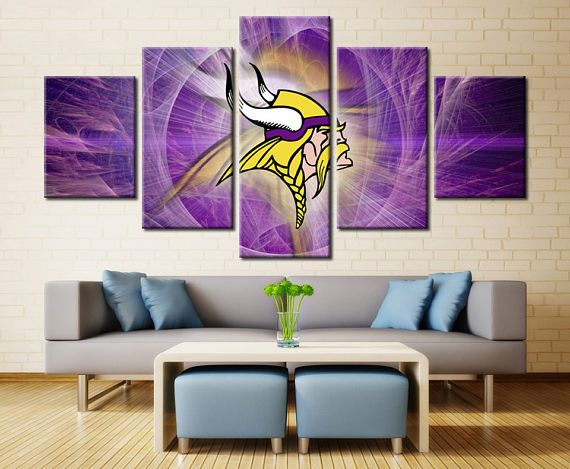 Patriots Wall Art minnesota vikings wall art home decor / patriots sports canvas