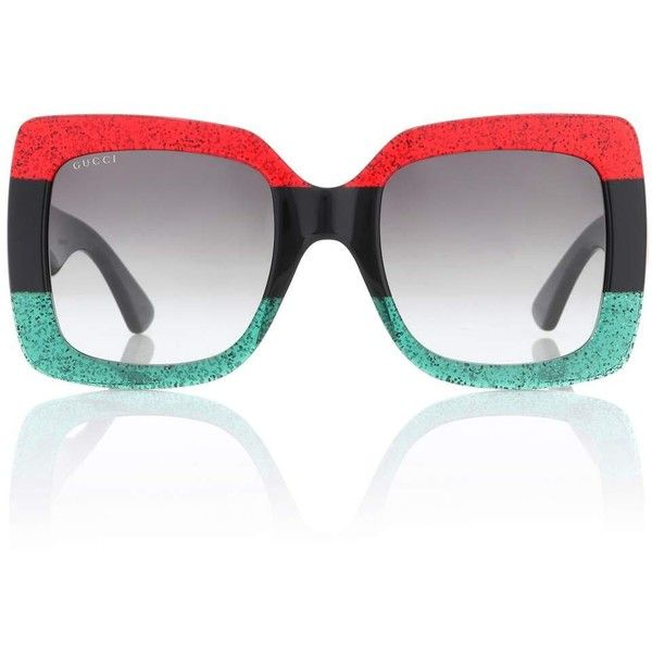 b95f4191863 Gucci Oversized Square Sunglasses ( 455) ❤ liked on Polyvore featuring  accessories