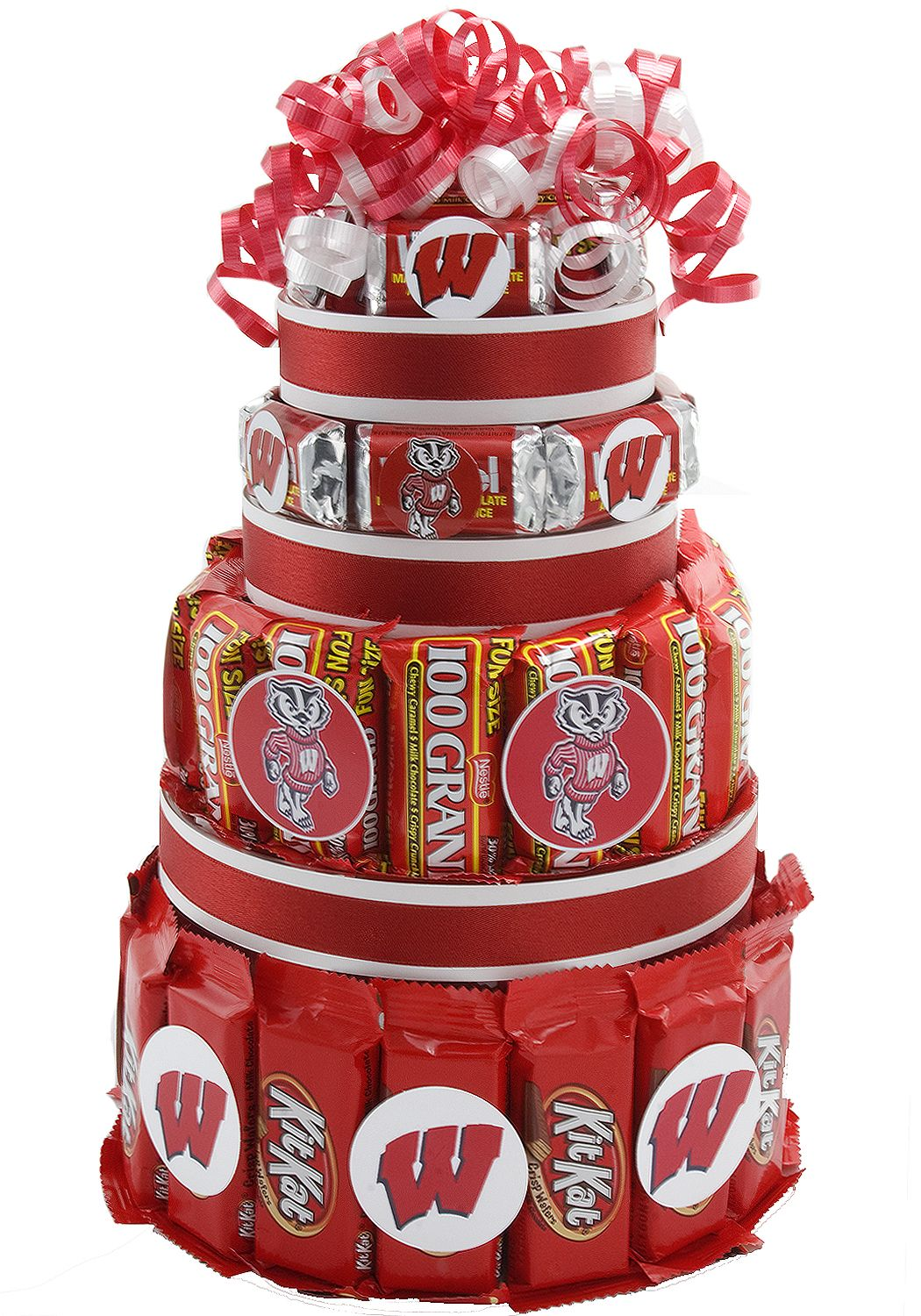 Wisconsin Badgers Candy Cake