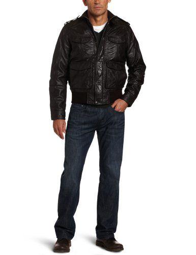 2ba71dece Dockers Men`s Limited Offer Military Leather Bomber Jacket $113.39 ...