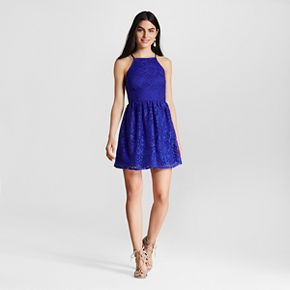 Women's Lace Fit and Flare Dress - Lots of Love by Speechless (Juniors')