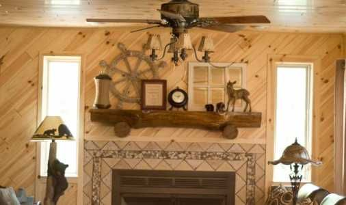 High Quality Bring The Log Siding Look From The Outside, In; With Interior Pine Wood  Paneling From Rustic Rails.