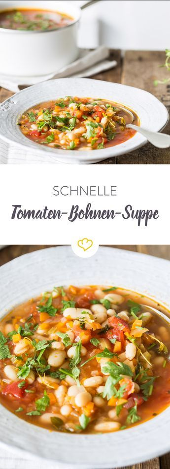 Photo of Schnelle Tomaten-Bohnen-Suppe