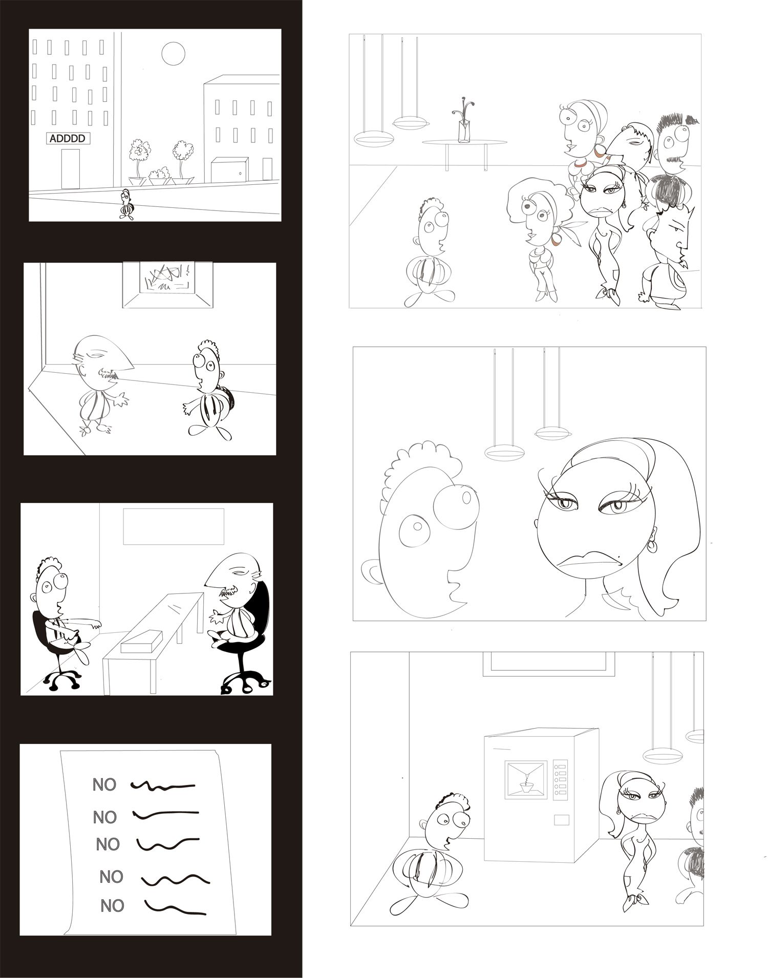 Sketching A Comic