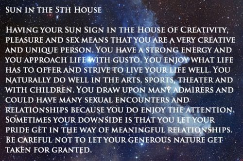 5th house of love and creativity