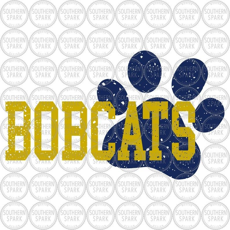 Bobcats Svg Bobcat Svg Paw Svg Distressed Back To Etsy In 2020 Small Business Gifts Selling Handmade Items Etsy