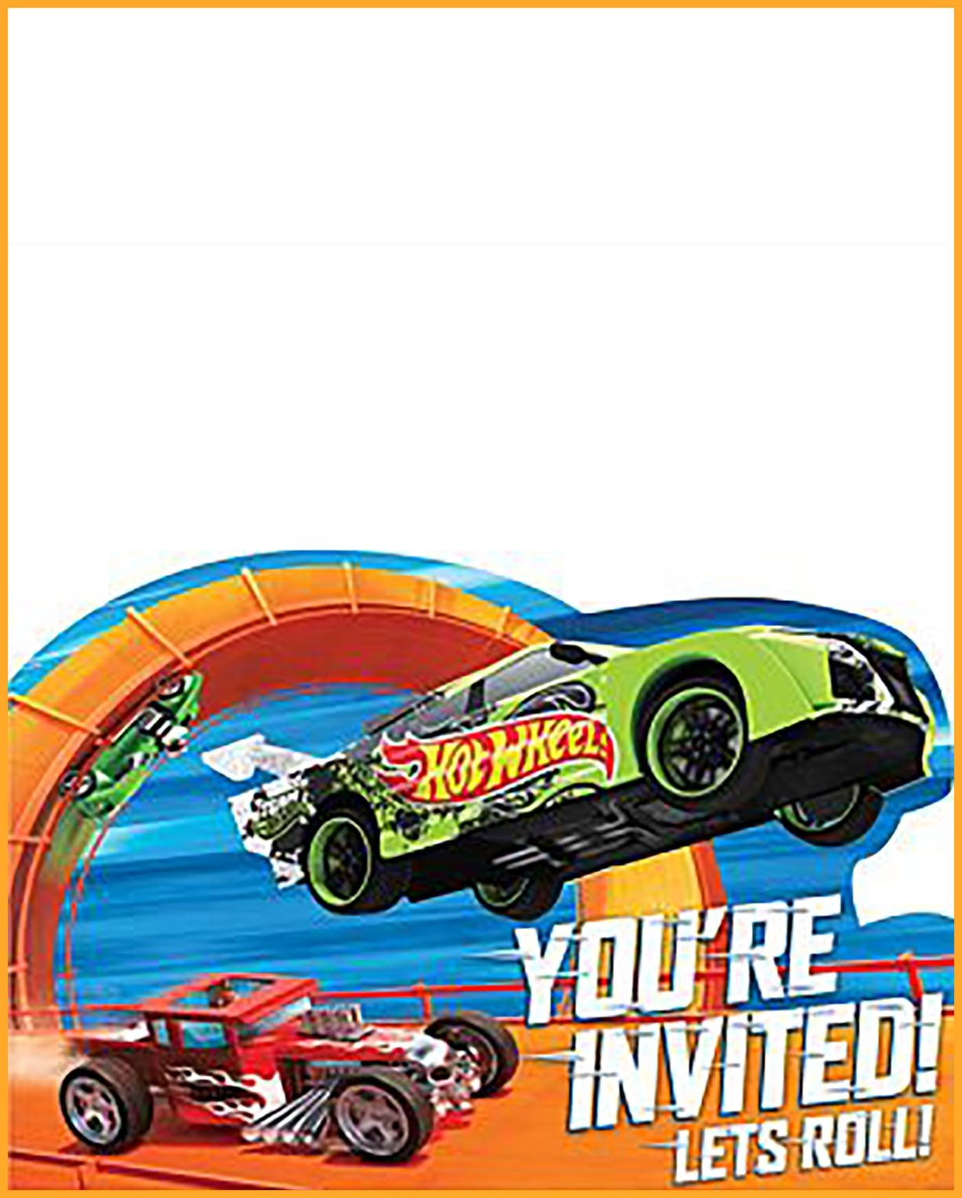 Cars Invitation Card Template Free: Free Printable Hot Wheels Invitation Templates For