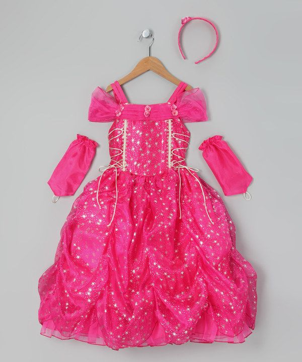Take A Look At This Fuchsia Star Princess Dress Up Set Toddler Girls On Zulily Today Hijab Kids Princess Dress Princess Outfits Dresses