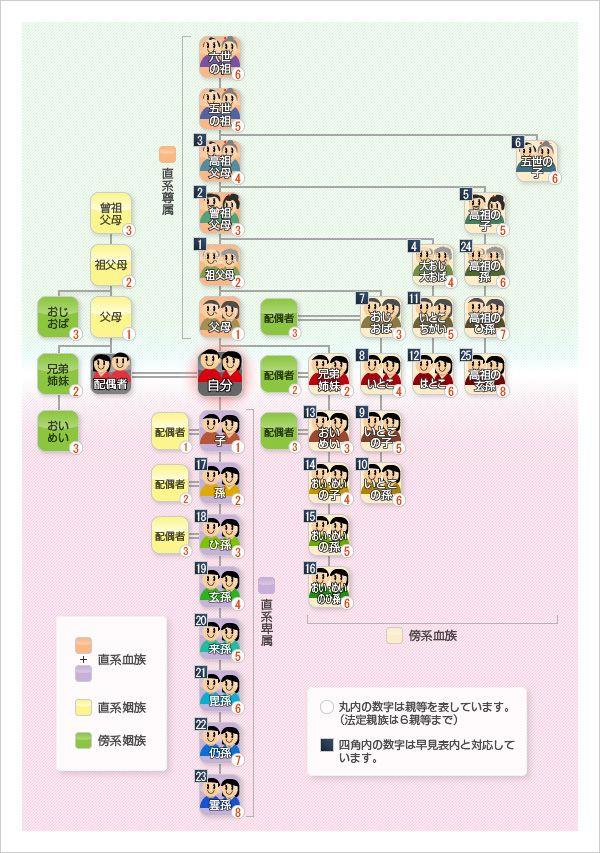 Shinzokuzu 2 Jpg 600 853 系図 家系図 ピクセル