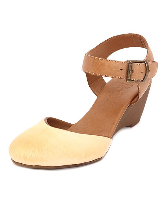 d45b43f4c755 Camel   Brown Ankle-Strap Leather Sandal