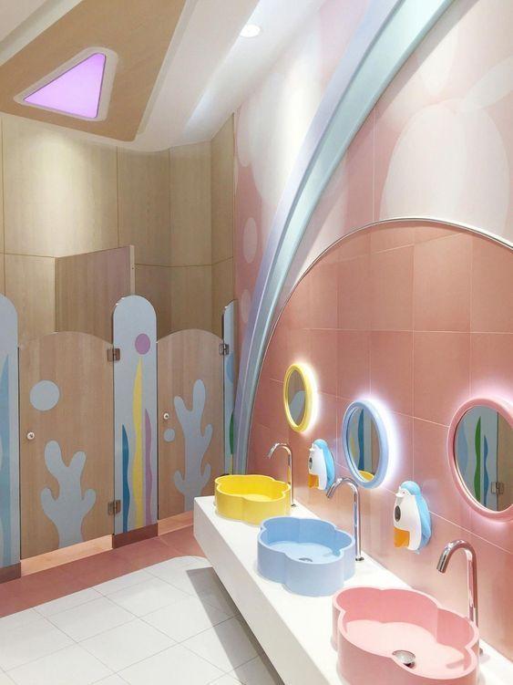 Colorful Refurbishment Kindergarten Bathrooms: Dd Image By Shikha Bartariya