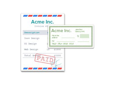 Invoice & Cheque Icon Wave Apps