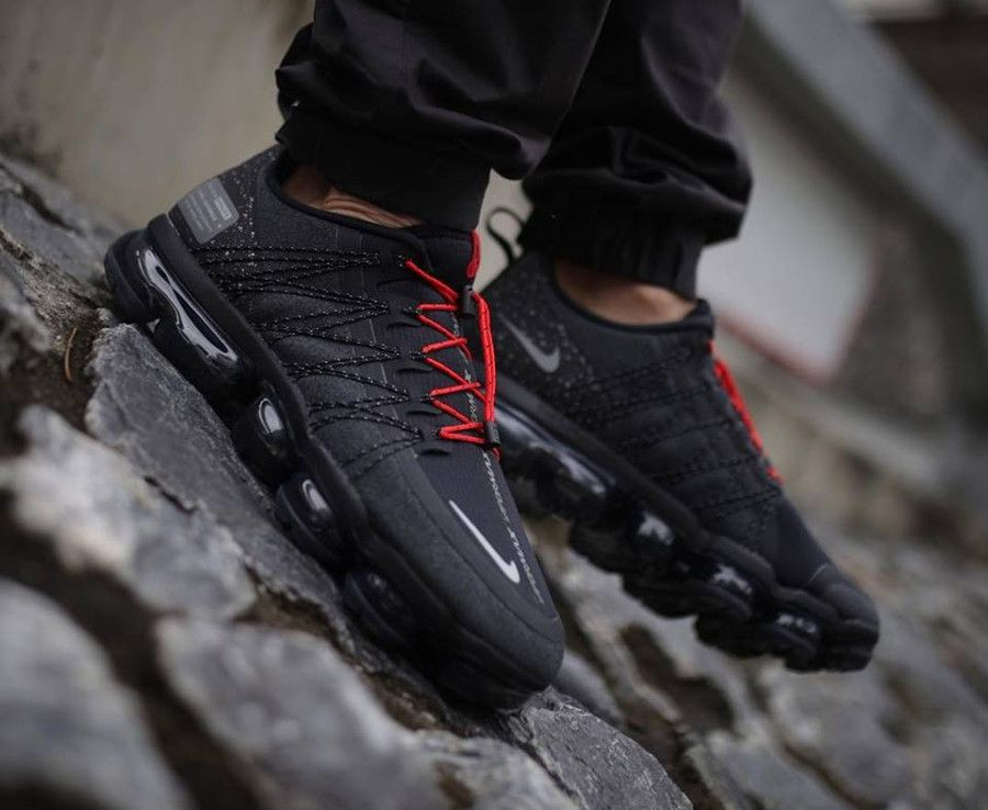 Run Grise On Feet2018 Nike Et Air Noire Vapormax Utility Rouge EH2YWe9IbD