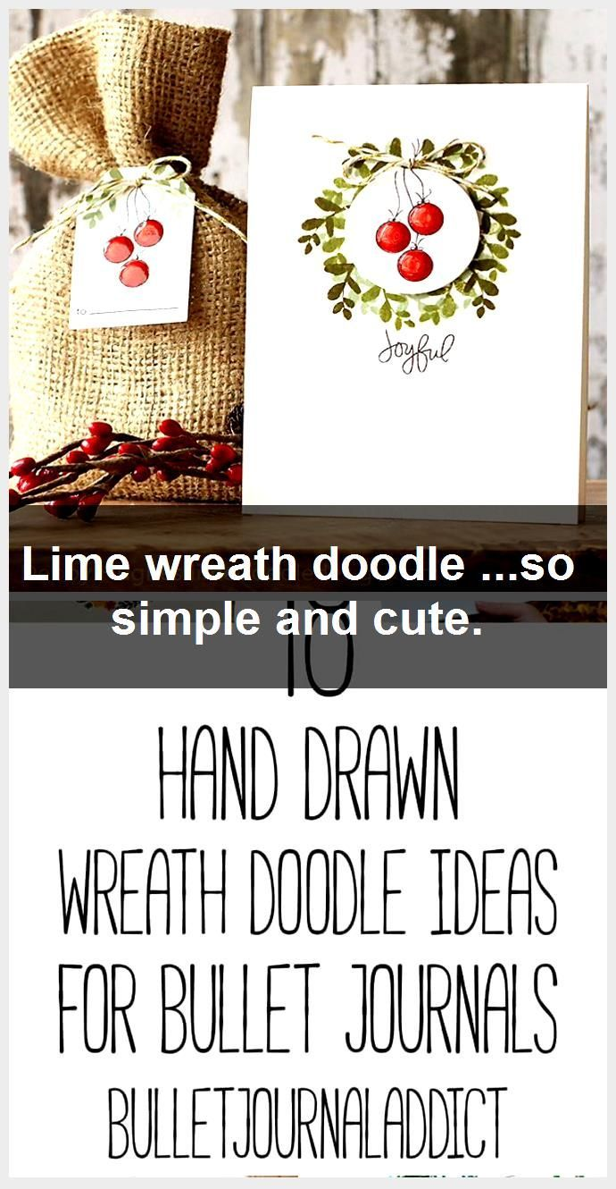 Photo of Lime wreath doodle … so simple and cute., #Cute #doodle #Lime #Simple #Wreath