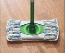 Crochet or knit a sweeper mop cover free pattern - Eco friendly craft ideas