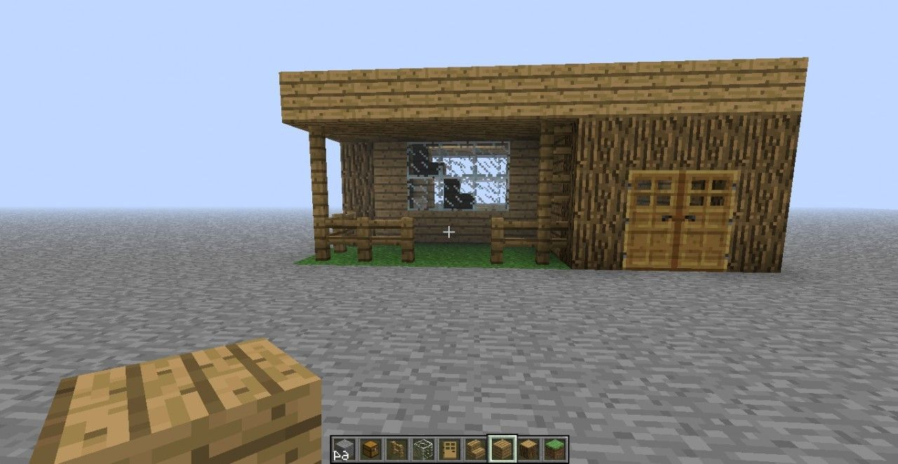 simple house plans minecraft front design