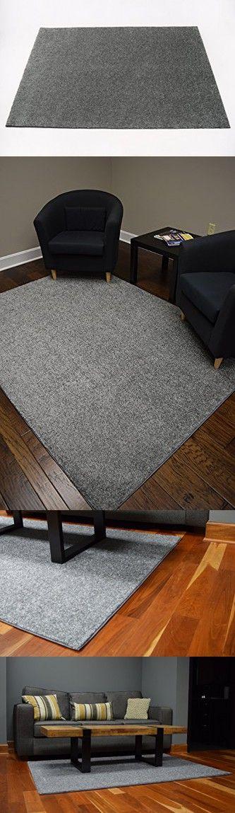 Soft Contemporary Solid Grey Bound Loop Carpet Area Rug 5 X7 Carpets Area Rugs Area Rugs Carpet