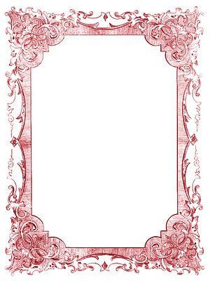 Vintage Clip Art - Romantic Frames - Christmas Colors   Vintage clip ...
