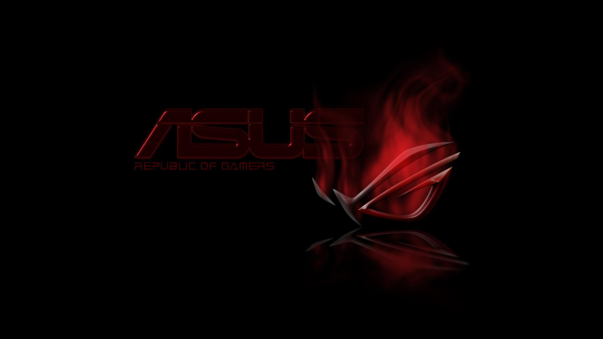Red Asus Wallpaper: Red And Black Asus RoG Republic Of Gamers Wallpaper