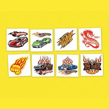 c05544f05 Hot Wheels Party Supplies Speed City 2in X 2in Temporary Tattoos 24ct by  AMSCAN. $4.99. Become a part of the racing team! Our Hot Wheels Tattoos  feature ...