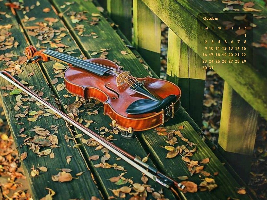Turn Any Photo Into Cool Desktop Or Cell Phone Wallpaper With A Monthly Calendar Violin Music Violin Nocturne