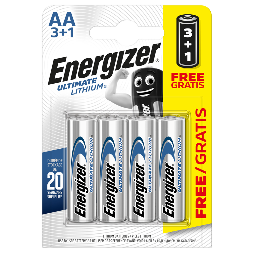 Energizer Ultimate Lithium Aa Lr6 L91 Batteries 4 Pack Aabatteries In 2020 Energizer Batteries Car Battery Chargers