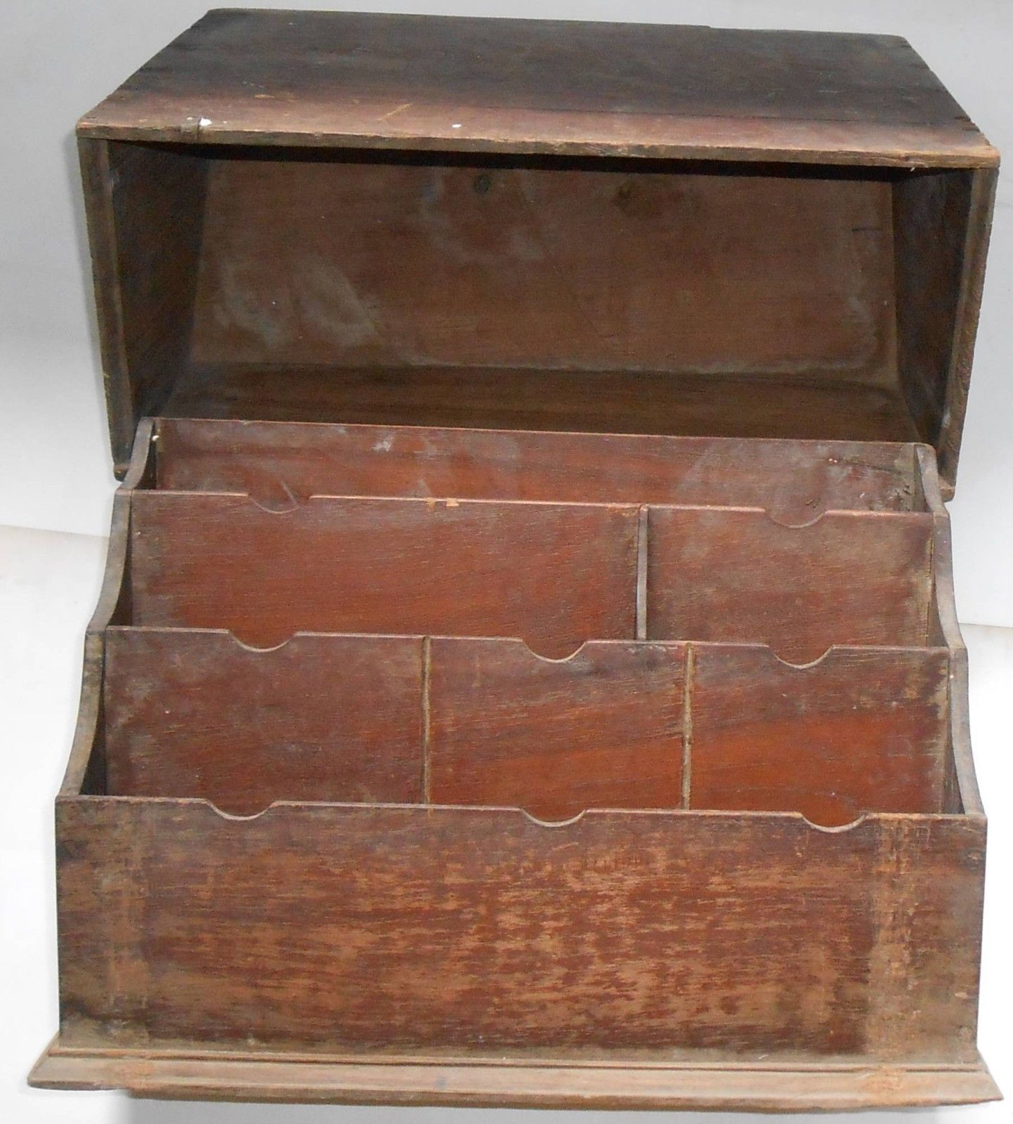 Decorative Stationery Boxes Indian Vintage Wooden Stationery Holder Box With Cover Very