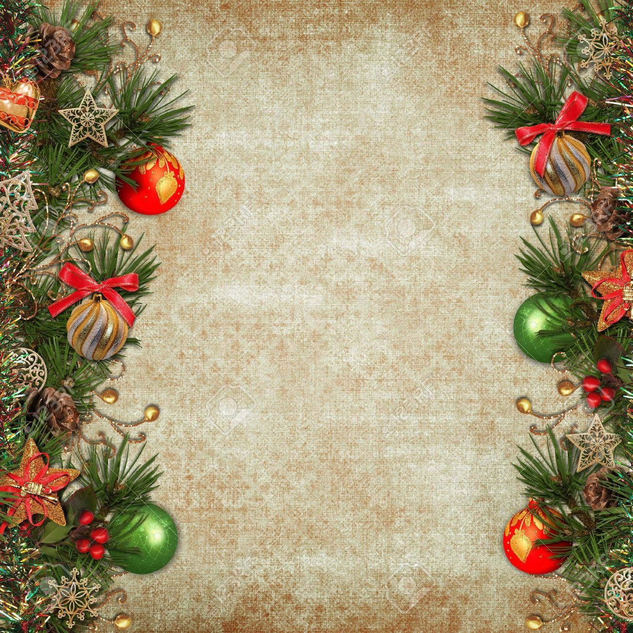 Vintage Christmas Background Stock Photo, Picture And ...