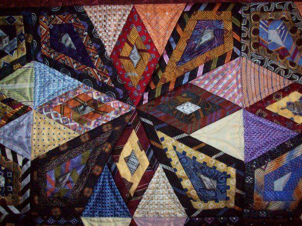 Quilt of mens neck ties. - Quilters Club of America | Necktie ... : mens tie quilt - Adamdwight.com